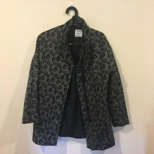 Old Navy animal print coat